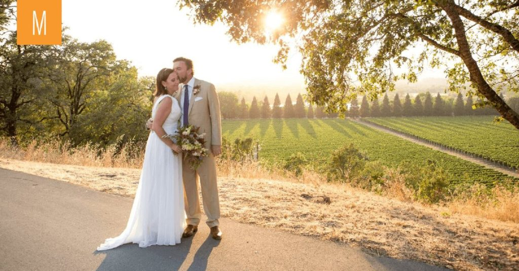 Winery Wedding, Wedding with a view